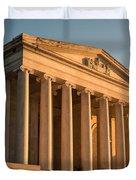 Jefferson Memorial Sunset Duvet Cover by Steve Gadomski