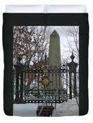 Jefferson's Grave Duvet Cover