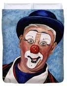 Watercolor Clown #11 Jeffrey Potts  Duvet Cover