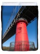 Jeffrey's Hook Lighthouse I Duvet Cover