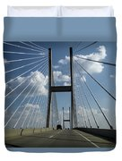 Jekyll Island Cable Bridge Duvet Cover