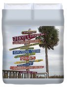 Jekyll Island Where To Go Duvet Cover