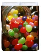 Jelly Beans Spilling Out Of Glass Jar Duvet Cover