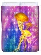 Jelly Fish Dance Duvet Cover