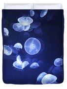 Jellyfish At Loceanographic Aquarium Duvet Cover