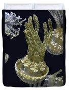 Jellyfish Of Aquarium Of The Bay San Francisco Duvet Cover