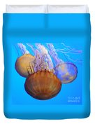 Jellyfish Trio Duvet Cover