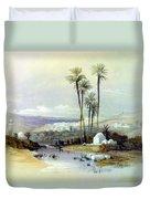 Jenin Ancient Jezreel 1839 Duvet Cover