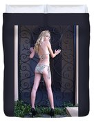 Jennie With Iron Gate 3 Duvet Cover