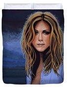 Jennifer Aniston Painting Duvet Cover