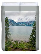 Jenny Lake In Grand Tetons National Park-wyoming  Duvet Cover