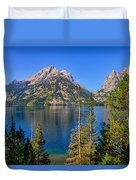 Jenny Lake Overlook Duvet Cover