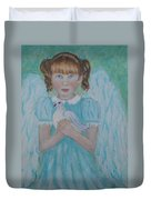 Jenny Little Angel Of Peace And Joy Duvet Cover by The Art With A Heart By Charlotte Phillips