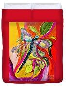Jenny's Dragonfly In Acrylic Duvet Cover