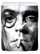 Jeremy Irons Portrait Duvet Cover