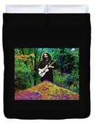 Jerry At The Cosmic Pyramid In The Woods  Duvet Cover