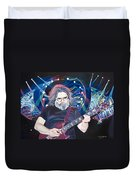 Jerry Garcia And Lights Duvet Cover