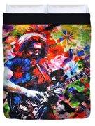 Jerry Garcia - Grateful Dead - Original Painting Print Duvet Cover