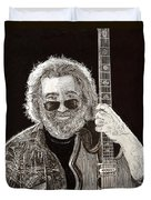 Jerry Garcia String Beard Guitar Duvet Cover