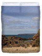 Jersey Beach  Duvet Cover