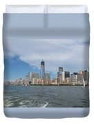 Jersey City And Hudson River Duvet Cover