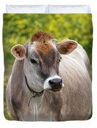 Jersey Cow With Attitude - Vertical Duvet Cover