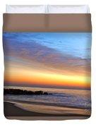 Jersey Shore Sunrise Duvet Cover