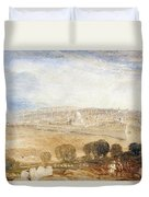 Jerusalem From The Mount Of Olives Duvet Cover by Joseph Mallord William Turner