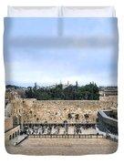 Jerusalem The Western Wall Duvet Cover
