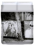 Jesus And The Gangster Duvet Cover