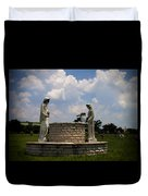Jesus And The Woman At The Well Cemetery Statues Duvet Cover