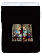Jesus Angels Stained Glass Painting Inside Cologne Cathedral Germany Duvet Cover