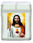 Jesus Big Heart Duvet Cover