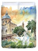 Jesus By Palermo Cathedral Duvet Cover