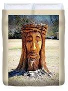Jesus Carving Duvet Cover