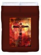 Jesus Christ On The Cross Duvet Cover