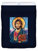 Jesus Christ The Pantocrator I Duvet Cover