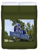 Jesus Coming Soon Duvet Cover