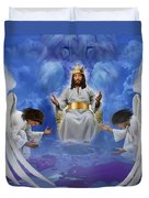 Jesus Enthroned Duvet Cover by Tamer and Cindy Elsharouni