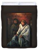 Jesus Healing Beggar Duvet Cover