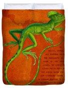 Jesus Lizard Duvet Cover