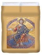 Jesus Mosaics Duvet Cover
