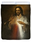 Jesus Of Divine Mercy Duvet Cover
