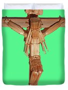Jesus On The Cross In Mexico 1925 Duvet Cover