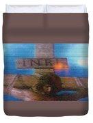 Jesus On The Cross Mosaic Duvet Cover