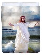 Jesus On The Sea Duvet Cover