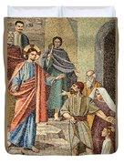 Jesus Visit Duvet Cover