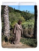Jesus- Walk With Me Duvet Cover