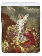 Jesus Walking On The Water Duvet Cover