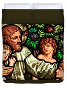 Jesus With Children Duvet Cover